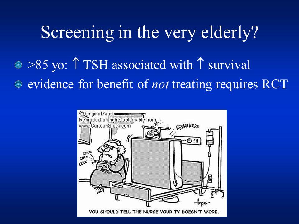 Screening in the very elderly.