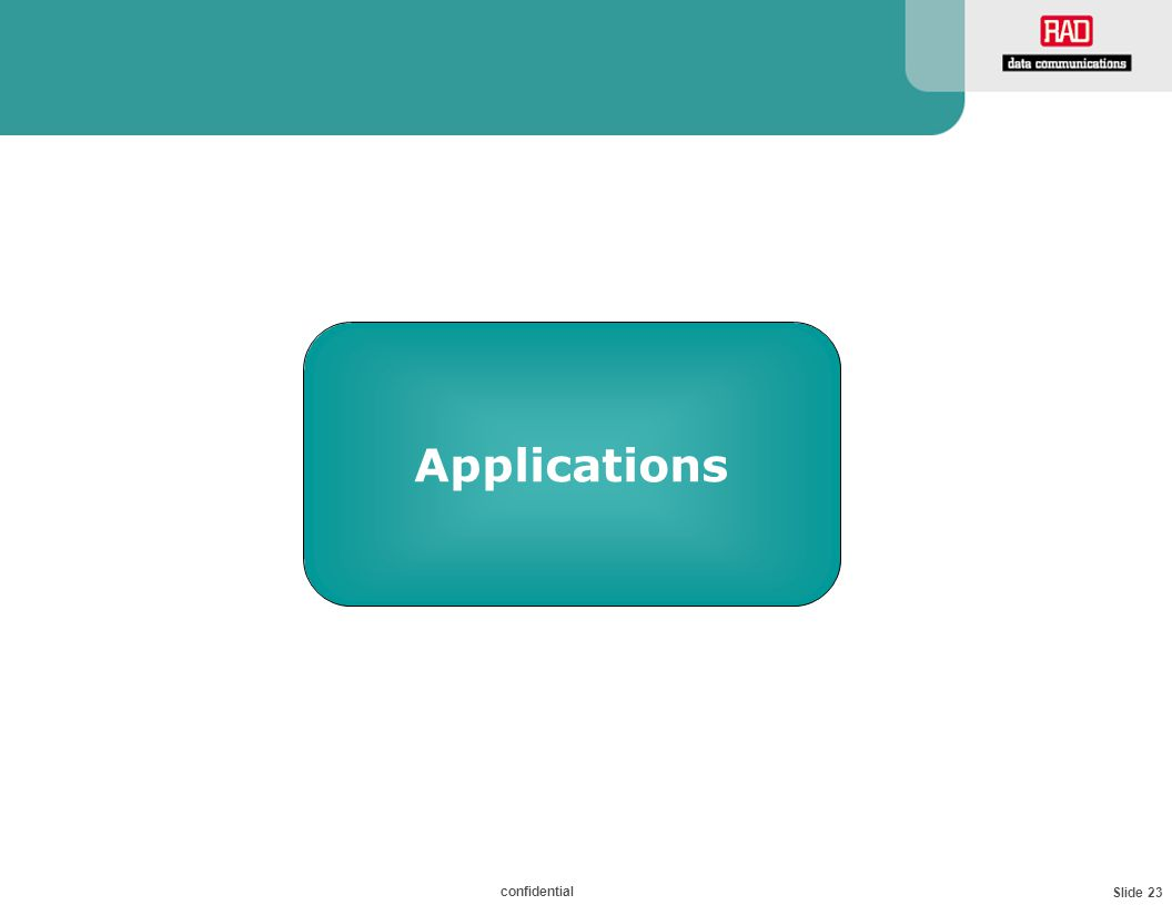 Slide 23 confidential Applications