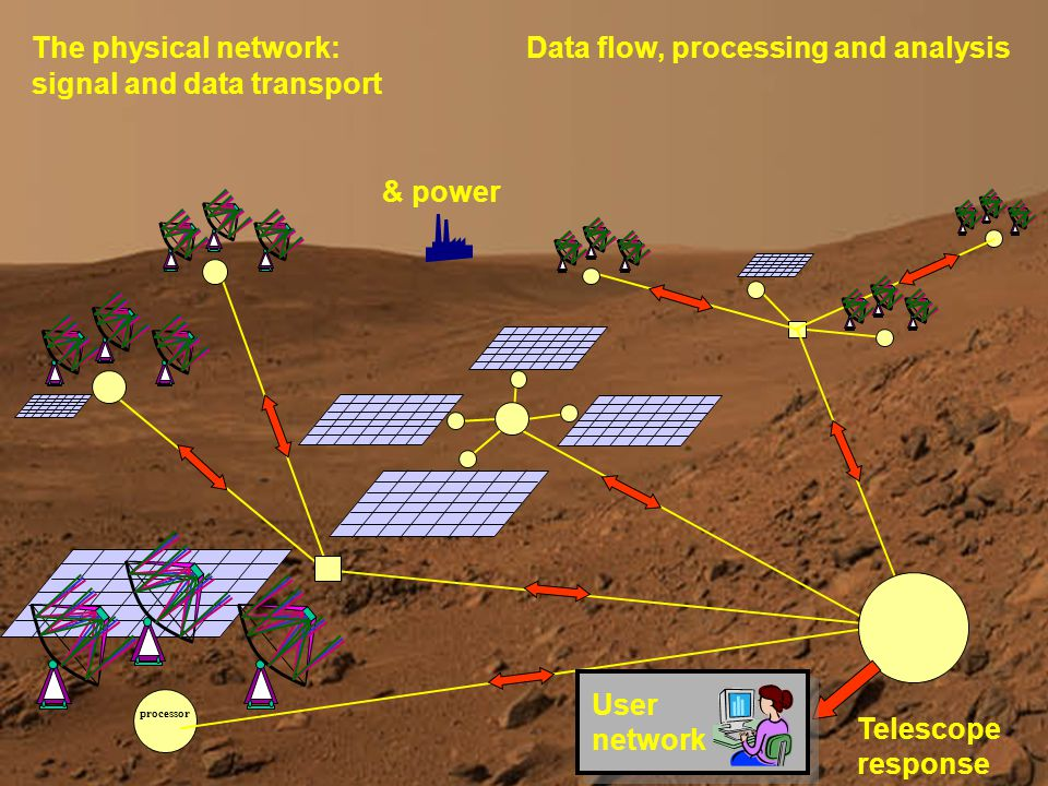 Paul Alexander DS3 & DS3-T3 SKADS Review 2006 processor The physical network:Data flow, processing and analysis & power Telescope response User network signal and data transport