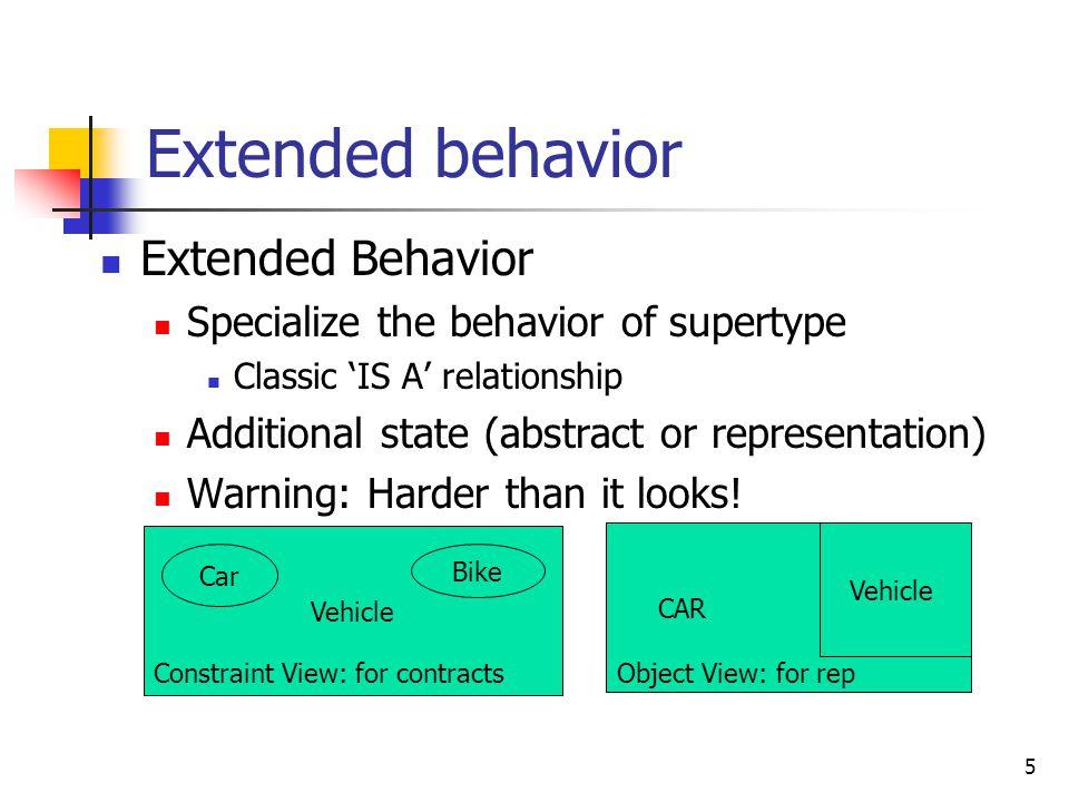 6 Analyzing subtype METHODS Subtypes behavior must support supertype behavior Liskov Substitution Principle Three rules for subtype methods: 1.