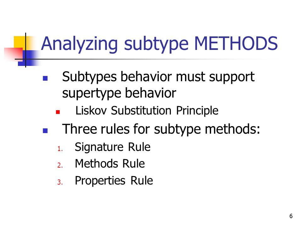 17 Methods rule vs.