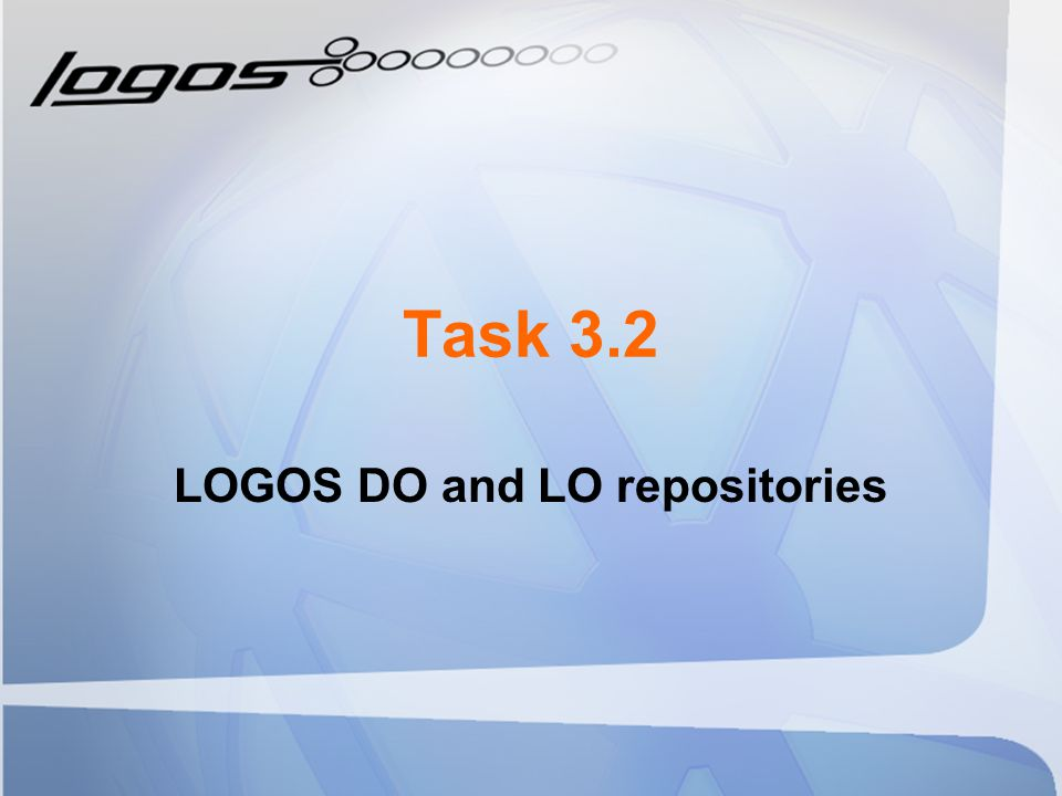 Task 3.2 LOGOS DO and LO repositories