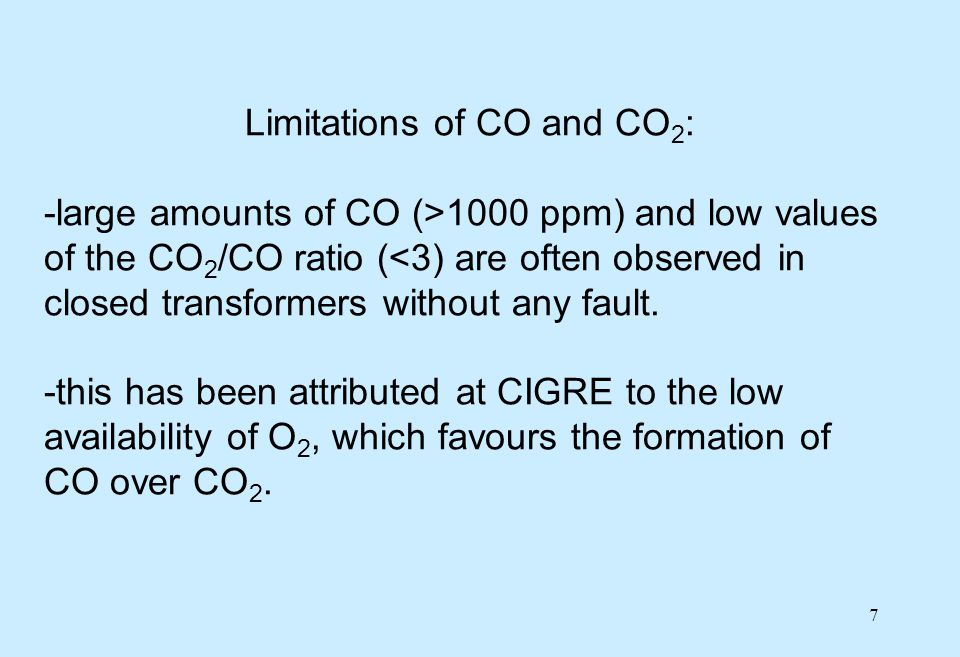 18 Gas limits in service -once the type and location of fault have been identified, the next parameter to look at is the amount of gases formed.