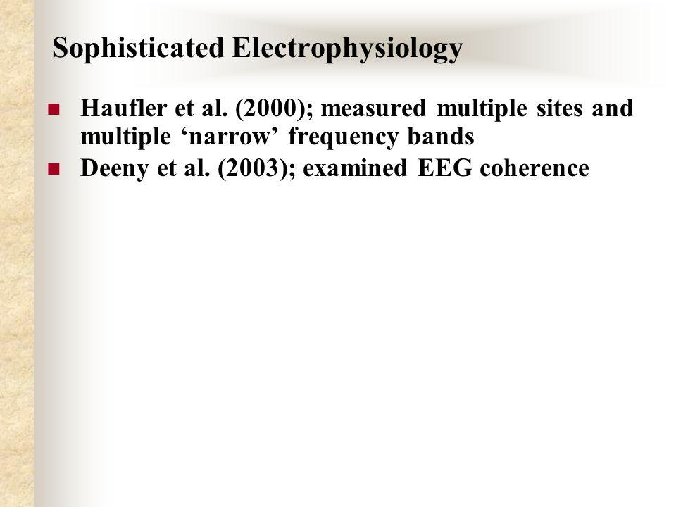 Sophisticated Electrophysiology Haufler et al.