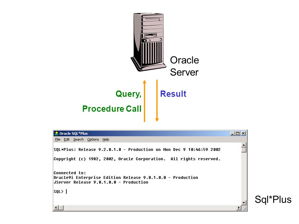 Sql*Plus Oracle Server ResultQuery, Procedure Call