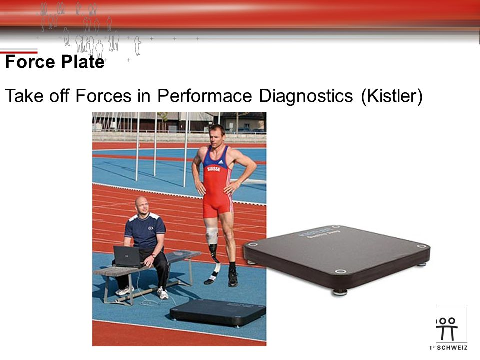 Force Plate Take off Forces in Performace Diagnostics (Kistler)