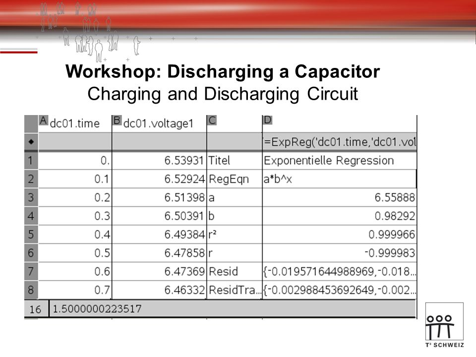 Workshop: Discharging a Capacitor Charging and Discharging Circuit
