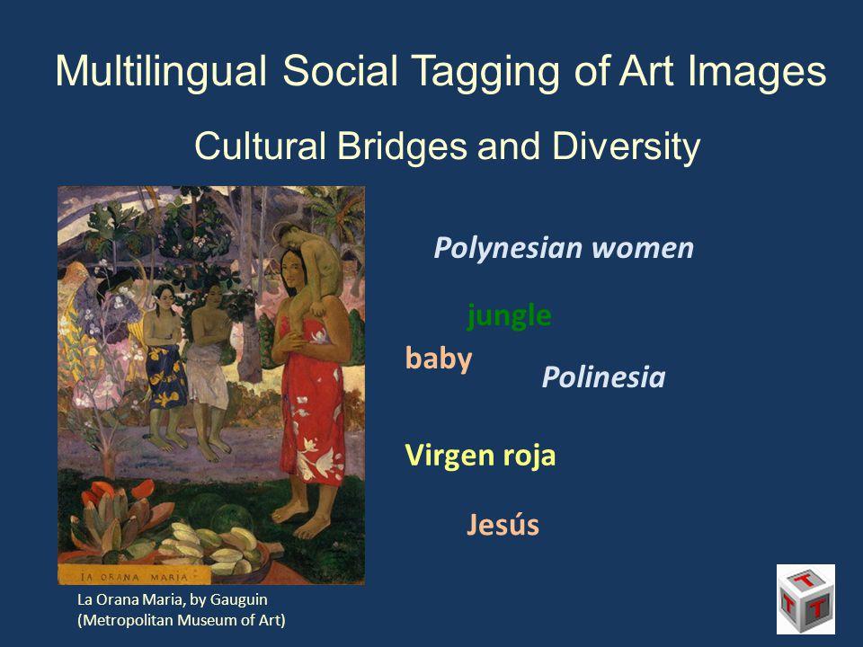Multilingual Social Tagging of Art Images Cultural Bridges and Diversity La Orana Maria, by Gauguin (Metropolitan Museum of Art) Polynesian women baby jungle Polinesia Virgen roja Jesús
