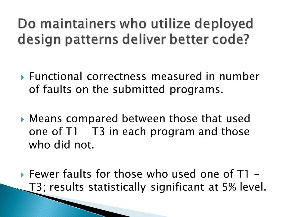  Functional correctness measured in number of faults on the submitted programs.