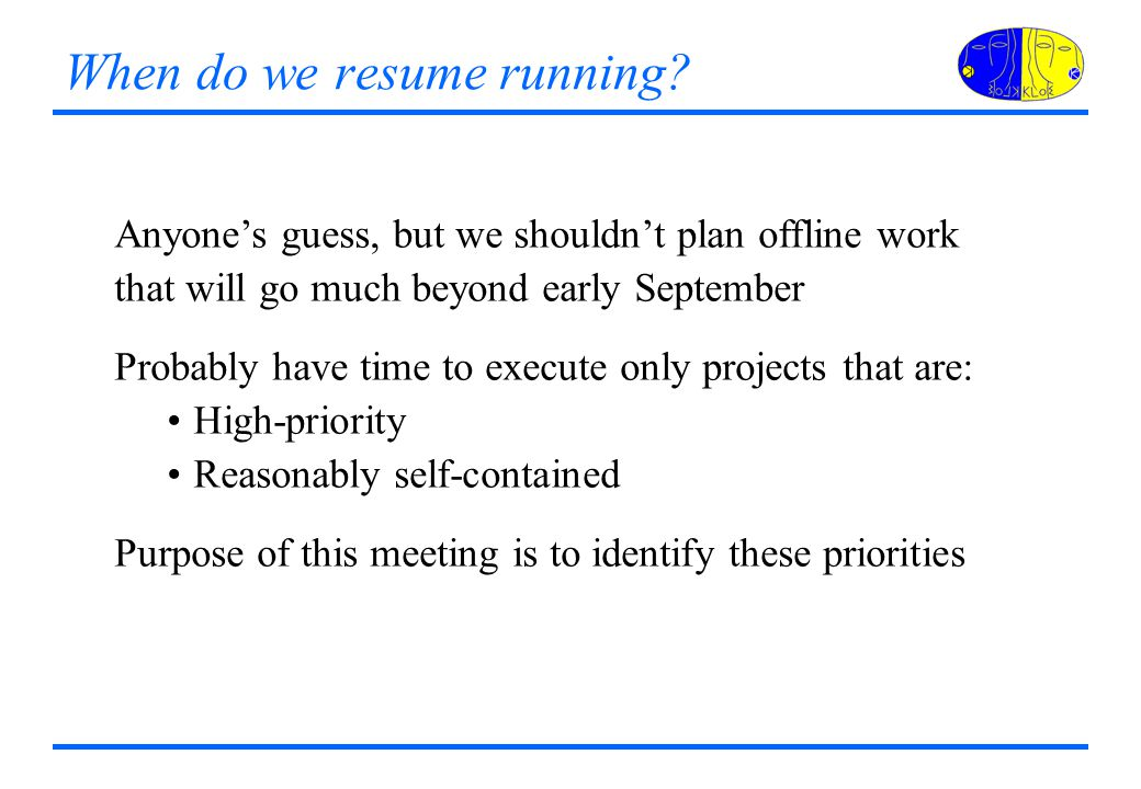 When do we resume running.