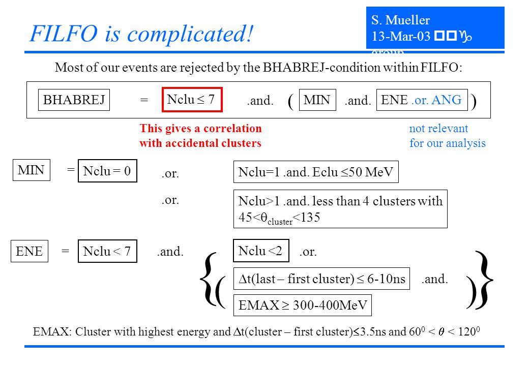 } MIN = Nclu = 0.or. Nclu=1.and. Eclu  50 MeV Nclu>1.and.