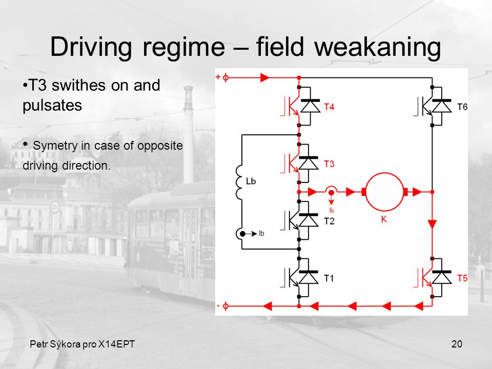 Petr Sýkora pro X14EPT20 Driving regime – field weakaning T3 swithes on and pulsates Symetry in case of opposite driving direction.