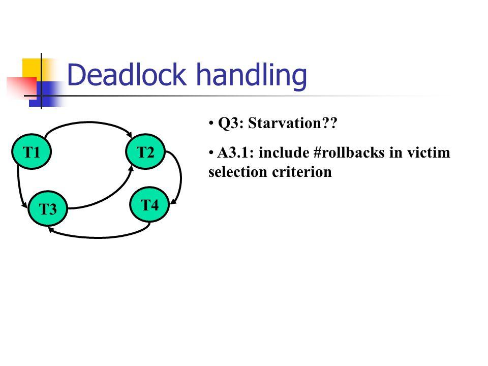 Deadlock handling Q3: Starvation?.