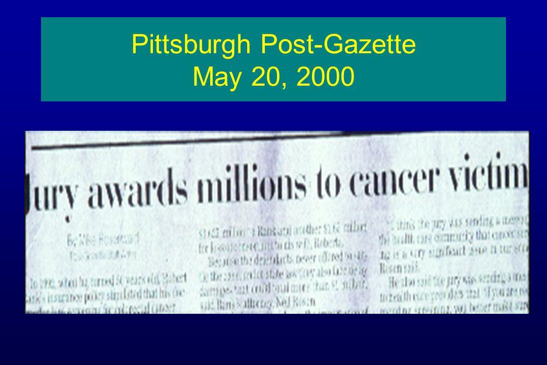 Pittsburgh Post-Gazette May 20, 2000