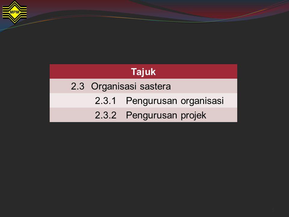 16 Pengurusan yang terdapat dalam sesebuah teks sastera Contohnya dalam Saudagar Besar dari Kuala Lumpur.