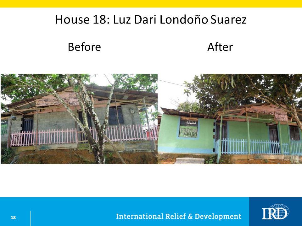 18 House 18: Luz Dari Londoño Suarez BeforeAfter