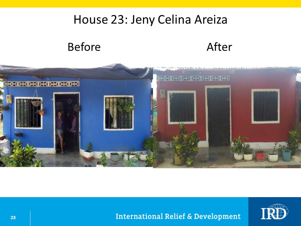 23 House 23: Jeny Celina Areiza BeforeAfter