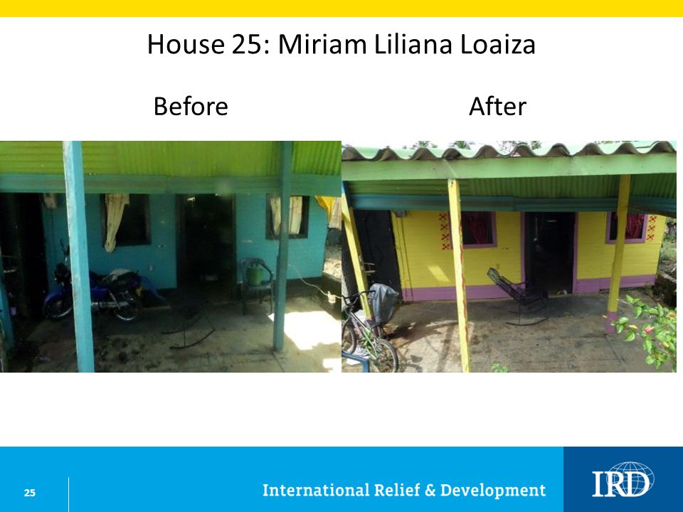 25 House 25: Miriam Liliana Loaiza BeforeAfter