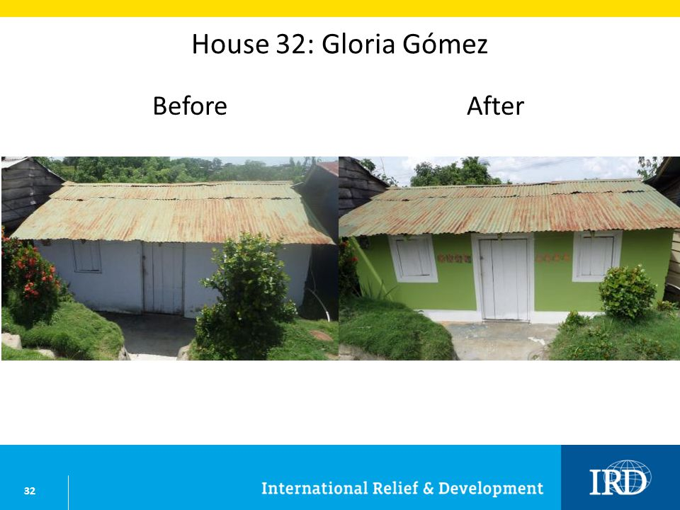 32 House 32: Gloria Gómez BeforeAfter