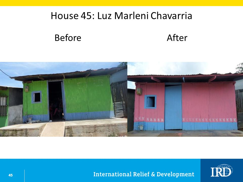45 House 45: Luz Marleni Chavarria BeforeAfter