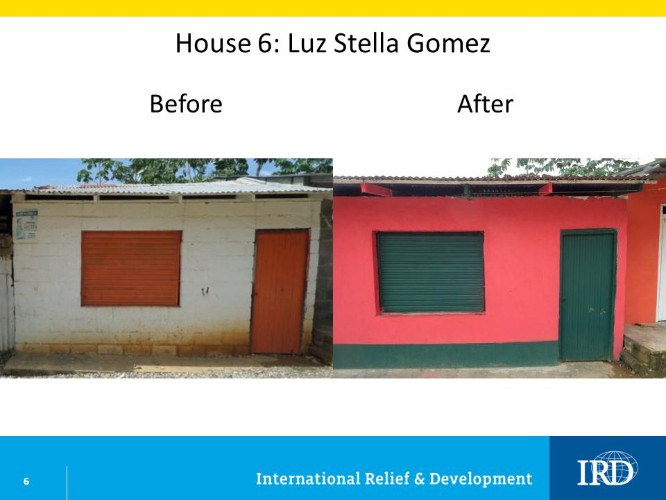 6 House 6: Luz Stella Gomez BeforeAfter
