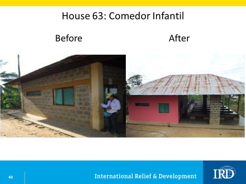 63 House 63: Comedor Infantil BeforeAfter