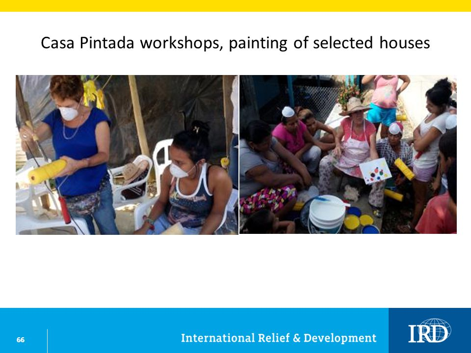 66 Casa Pintada workshops, painting of selected houses