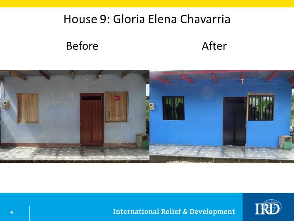 9 House 9: Gloria Elena Chavarria BeforeAfter