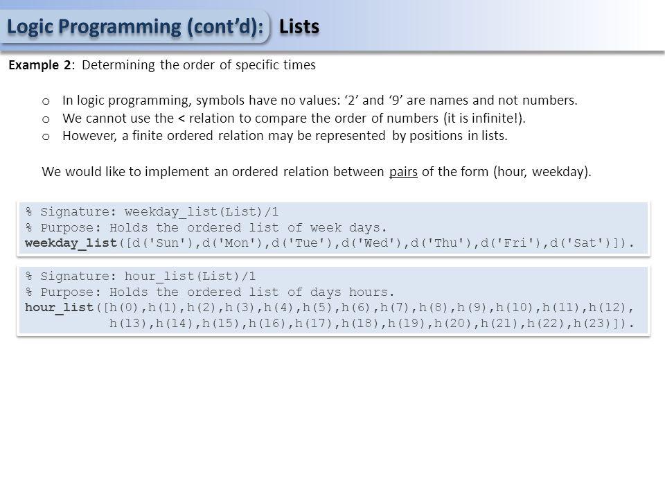 Logic Programming (cont'd): Meta circular interpreter member(X,[X Xs]).