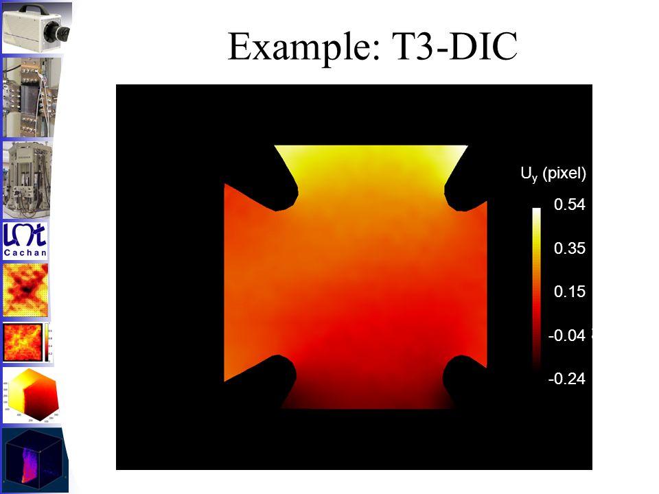 Example: T3-DIC 0.54 0.35 0.15 -0.04 -0.24 U y (pixel)