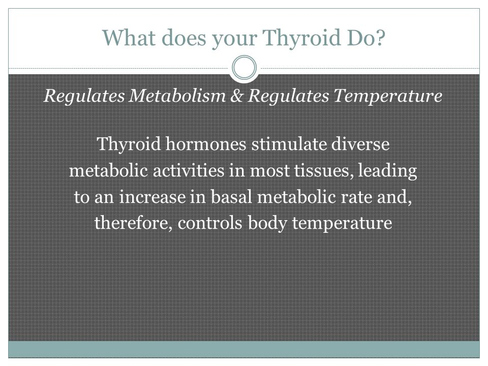 Hyperthyroidism Over production of thyroid hormone Causes include:  Stress & lack of rest  Autoimmune disease  Hot nodule  Over dose of thyroid hormone  Amiodarone (heart medication)  Iodine toxicity (rare)