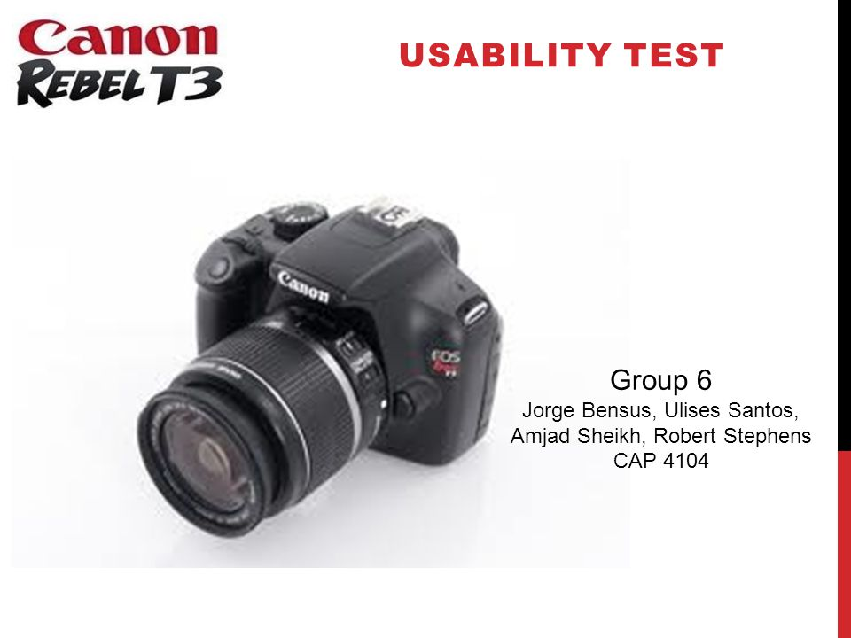 INTRODUCTION Canon claims the Canon Rebel T3 DSLR (Digital Single-Lens Reflex) Camera is easy to use.