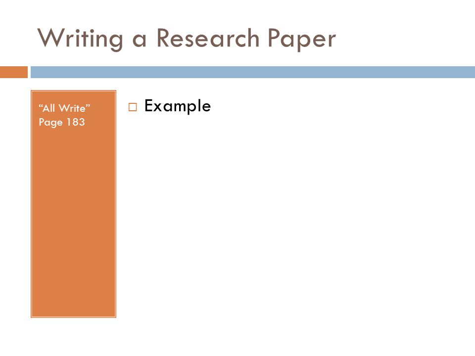 Writing a Research Paper All Write Page 183  Example