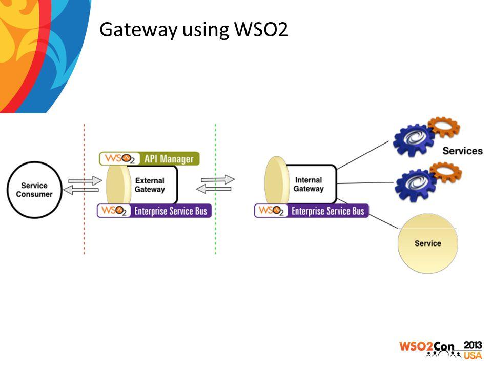 Gateway using WSO2