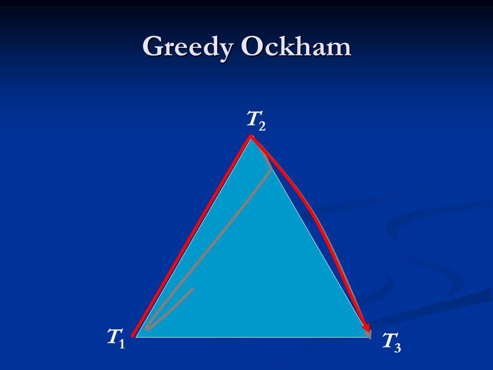 Greedy Ockham T1T1 T2T2 T3T3