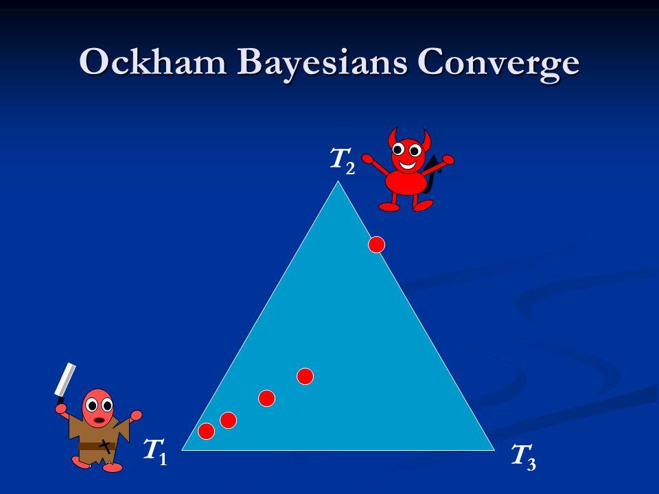 Ockham Bayesians Converge T1T1 T2T2 T3T3