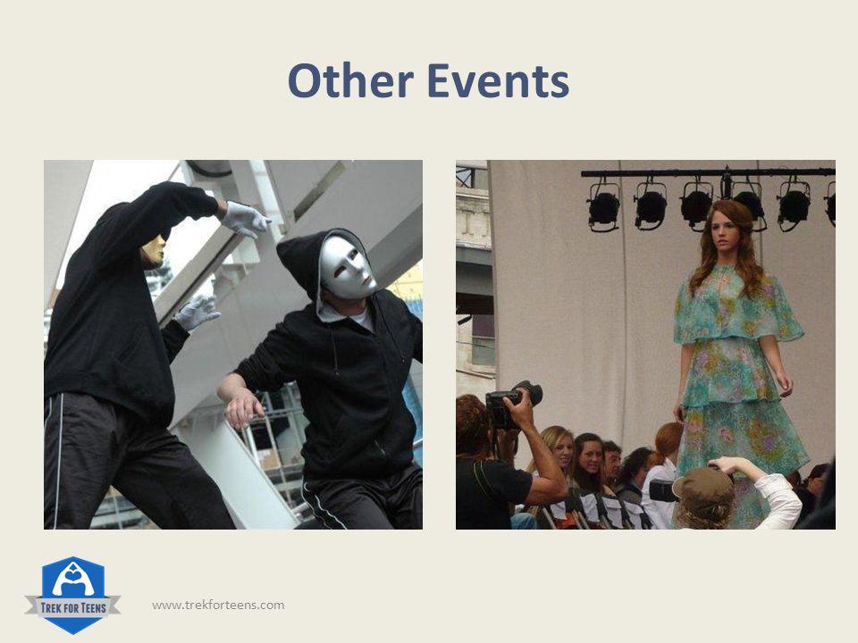 Other Events www.trekforteens.com
