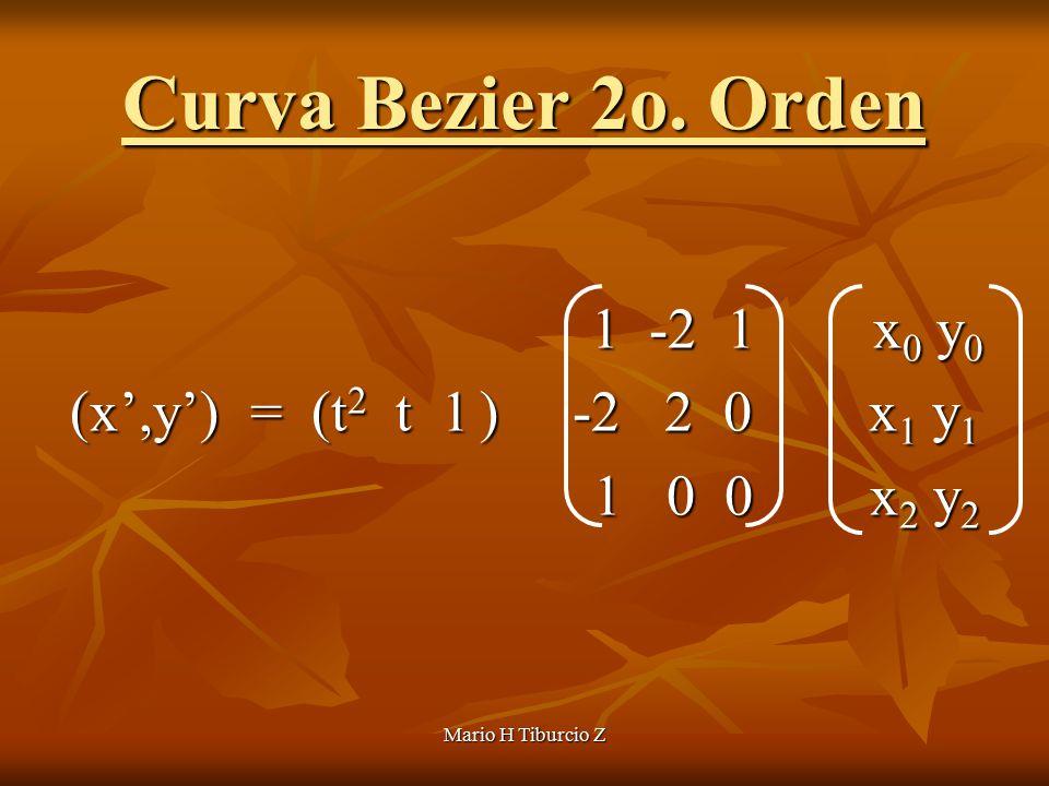 Mario H Tiburcio Z Curva Bezier 2o.