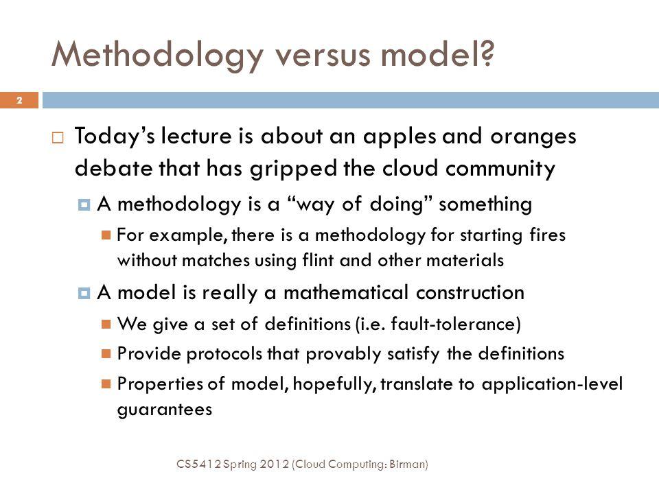 Methodology versus model.