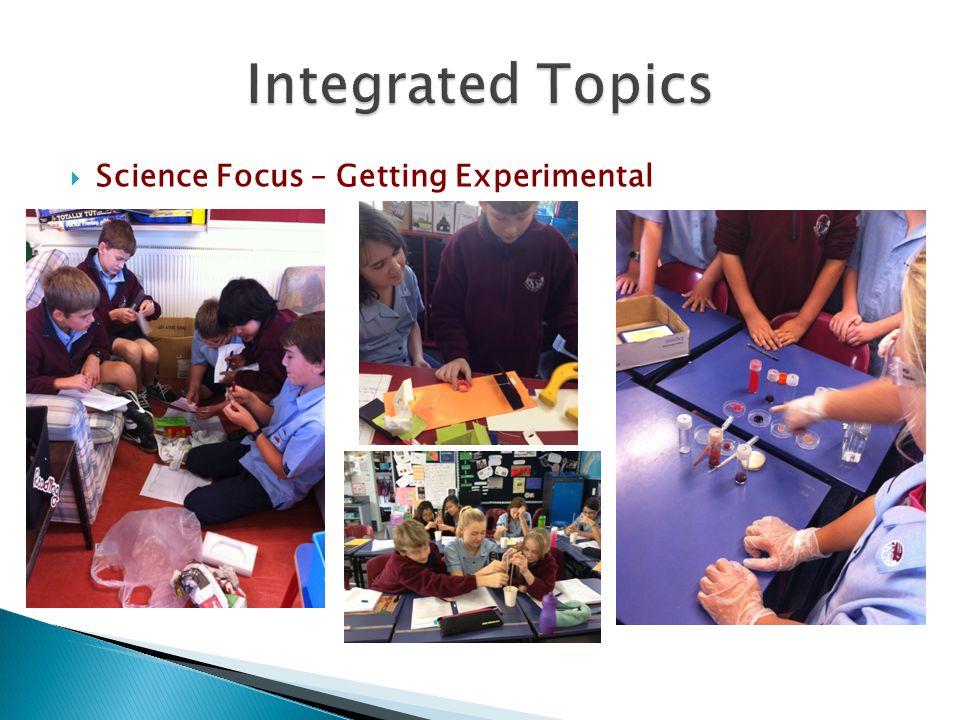  Science Focus – Getting Experimental
