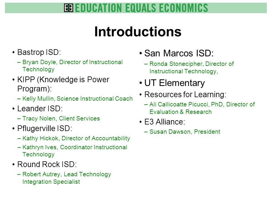 Evaluation Lessons Learned Summary Including project implementers is a challenge but necessary for buy-in and success.