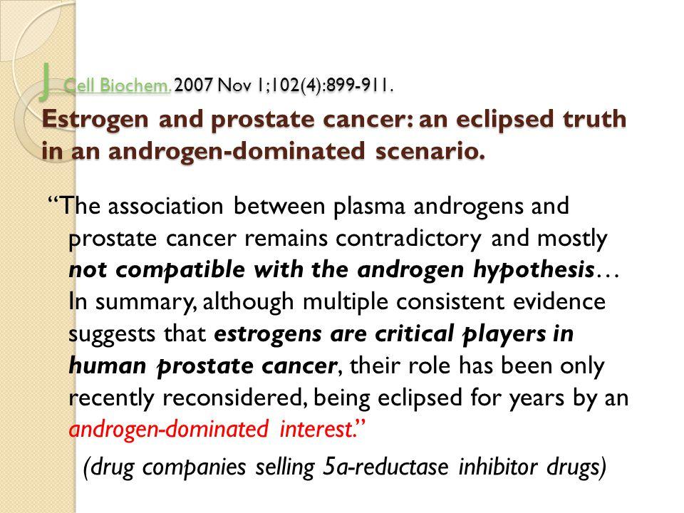 J Cell Biochem.J Cell Biochem. 2007 Nov 1;102(4):899-911. Estrogen and prostate cancer: an eclipsed truth in an androgen-dominated scenario. J Cell Bi