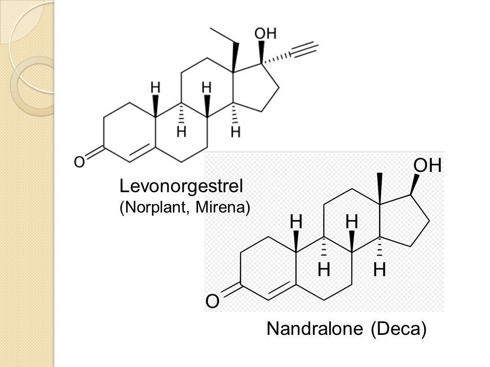 Nandralone (Deca) Levonorgestrel (Norplant, Mirena)