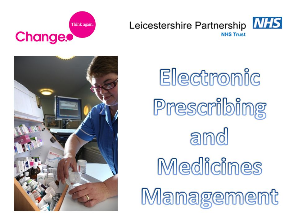 Anthony Oxley – Head of Pharmacy The Driver for Implementing EPMA.