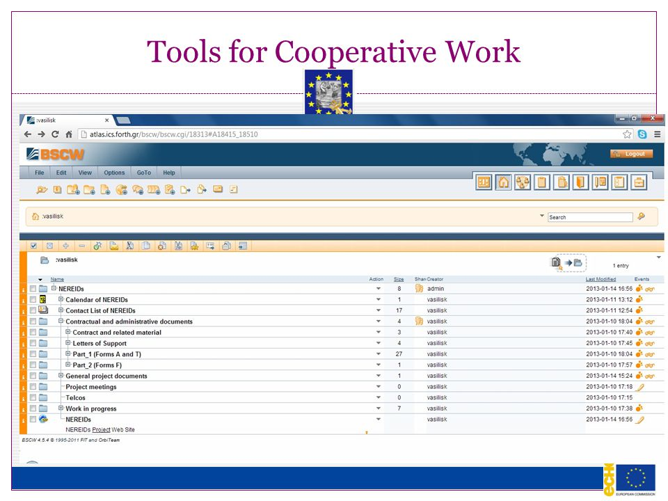 Tools for Cooperative Work