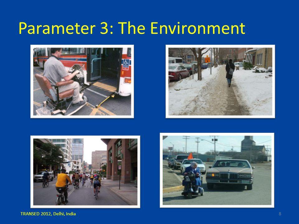 Parameter 3: The Environment 8TRANSED 2012, Delhi, India