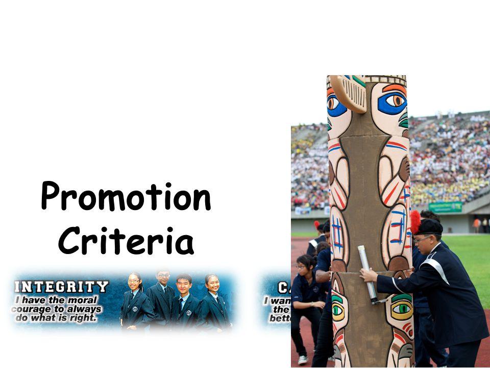 Promotion Criteria
