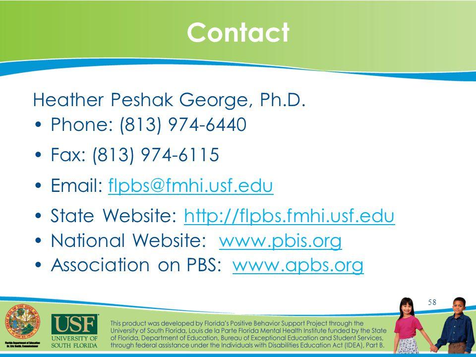 58 Contact Heather Peshak George, Ph.D.
