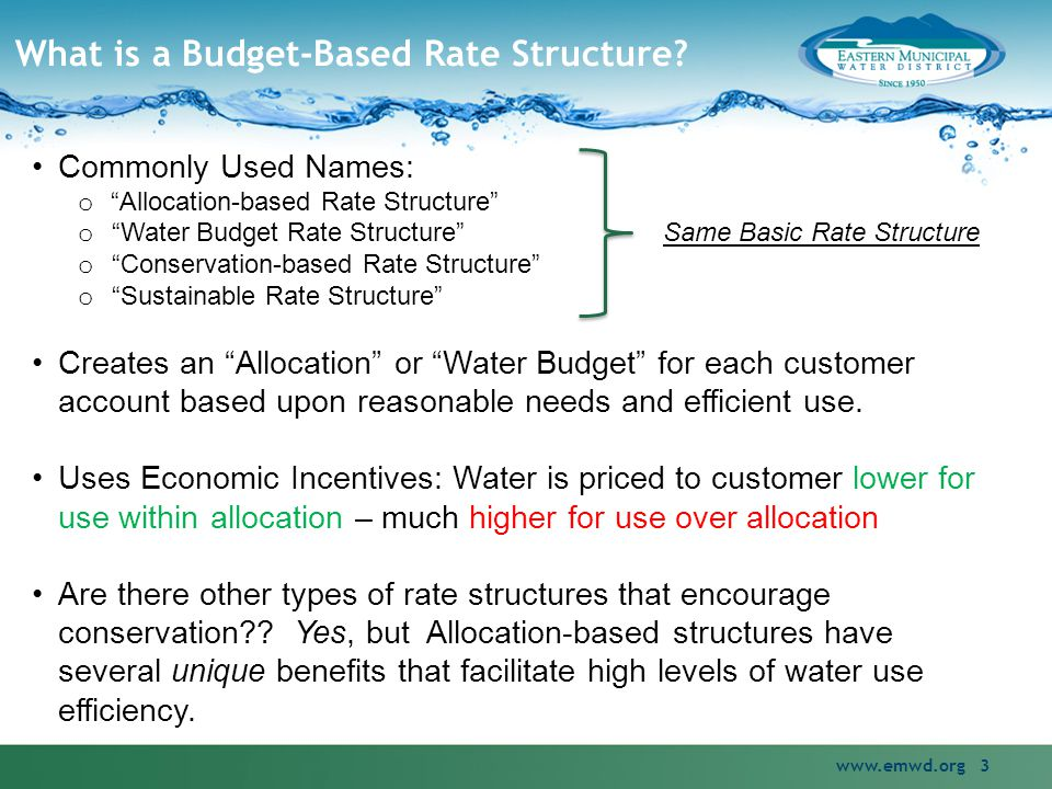 What is a Budget-Based Rate Structure.