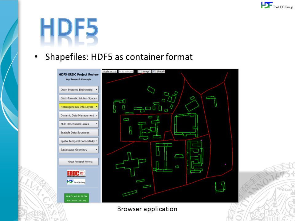 Shapefiles: HDF5 as container format Browser application